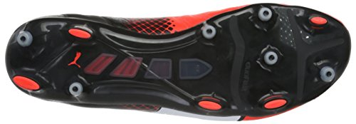 Puma Evopower 1.3 Lth FG, Chaussures de Football Compétition Homme Rouge (Red/Wht/Blk)