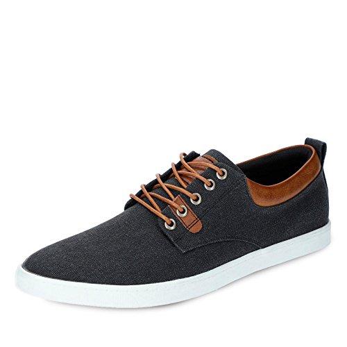 BULLBOXER 814X25288ABKCOSUGG Herren Sneaker Aus Textilmaterial mit Textilfutter, Groesse 46, Schwarz