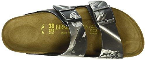 Birkenstock Arizona Birko-Flor, Mules Mixte Adulte Multicolore - Mehrfarbig (Kylo REN Black)