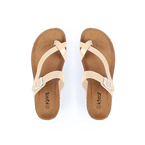 Bege Descalços Estilo ideais Sapatos Ortopédica Kahina A5O6Iq