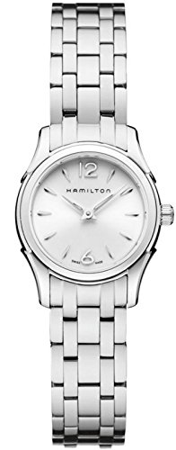 Hamilton Jazzmaster Women's Quartz Watch with White Dial Analogue Display and Silver Stainless Steel Bracelet H32261115