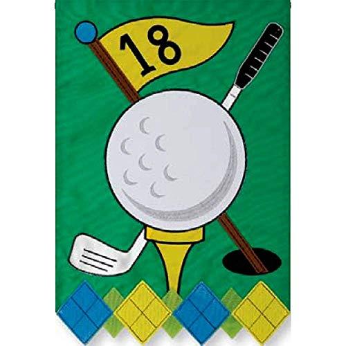 YEATRY Golf - Gartengröße, 30 X 45 cm, Dekorative, Beidseitig Applizierte Flagge, Gestickt, Lizenz, Urheberrechte, Warenzeichen Von Custom Decor Inc. -