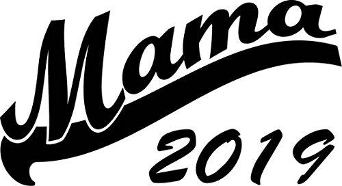 Mister Merchandise Herren Men V-Ausschnitt T-Shirt Mama 2019 Tee Shirt Neck bedruckt Weiß