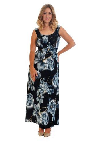 Floral Print Maxi Dress Grey 20