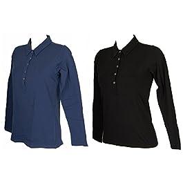 538d78dc9ca8d4 RAGNO Polo Maglia t-Shirt Manica Lunga Donna Caldo Cotone Elasticizzato  Articolo 07855J Velvet ML