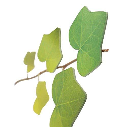 Minzhi Naturgetreue Grüne Ahornblätter Art Umweltschutz Sticky Haftnotizen Sets Farbe Random