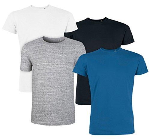 Maratus Herren Bio T-Shirt Rundhals Fair Wear Weiß