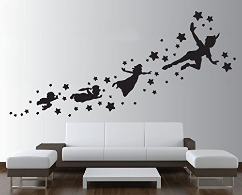 peter-pan-shadow-wall-decal-removable-vinyl-sticker-mural-window-kids-children-art-by-wall4stickers