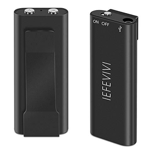 ugetde® 8GB Digital Audio Voice Recorder-MINI Tragbarer Wiederaufladbarer Spy Diktiergerät mit MP3Player und USB-Anschluss Spy Mp3