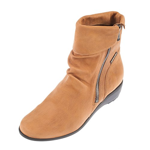 Mephisto Womens Seddy Greta Leather Boots Noisette
