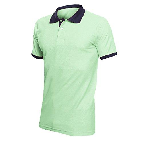 SOLS Prince Unisex Pique Polo-Shirt in Kontrastfarben, Kurzarm Grau Meliert/Pink