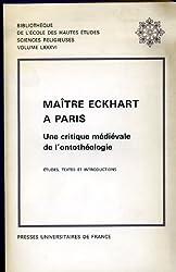 Maître Eckhart à Paris