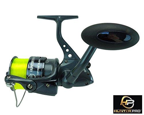 sea-fishing-reel-hunter-pro-70s-surf-with-20lb-line-black-chrome-spool-new
