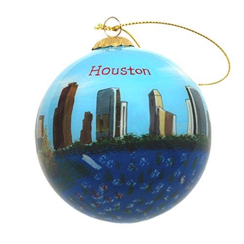 Houston Skyline Glas Ornament