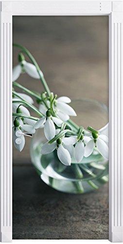 Snowdrops nel vaso come Murale, Formato: 200x90cm,