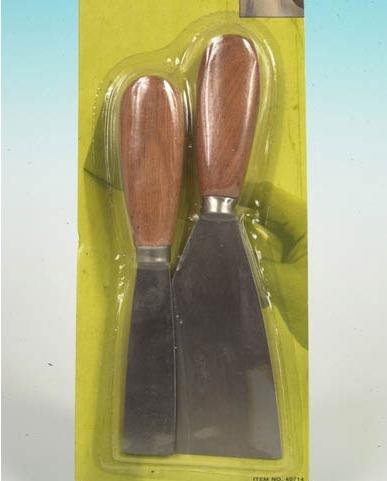 Spachtel Set 2 Teilig, Spachtel mit Holzgriff, für Hobby, Werkstatt, Garten und Co. (LHS)