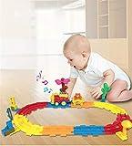 MaanZys Elektrische schiene Zug Toys, runde bahnstrecke Kinder Sound interessantes Spiel geeignet für Kinder unter 5 Jahren -