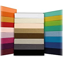 Sábana Ajustable Jersey Timeless - todos los tamaños y colores - 100% algodón - 140 a 160 x 200 cm - púrpura púrpura / luz