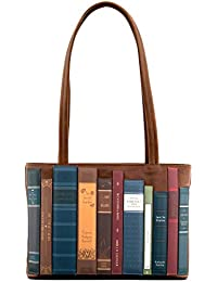 Bookworm Library Applique Leather Shoulder Bag by Yoshi