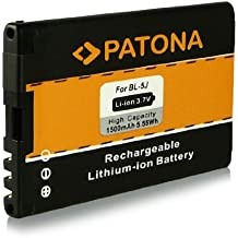 Batería BL-5J   BL5J para Nokia 5228   5230   5233   5235   5800 Navigation   5800 XpressMusic   5800T   5800xm   Asha 200   Asha 201   Asha 302   C3   C3-00   Lumia 520   N900   X1   X1-00   X1-01   X6   X6 8GB   X6 16GB   X6 32GB y mucho más… [ Li-ion, 1500mAh, 3.7V ]
