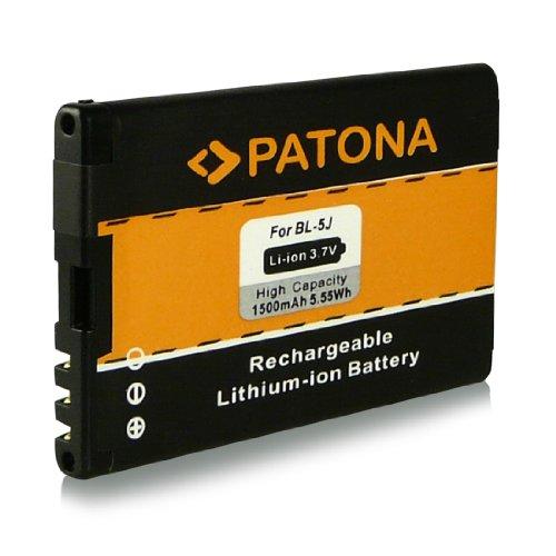 Batteria BL-5J | BL5J per Nokia 5228 | 5230 | 5233 | 5235 | 5800 Navigation | 5800 XpressMusic | 5800T | 5800xm | Asha 200 | Asha 201 | Asha 302 | C3 | C3-00 | Lumia 520 | N900 | X1 | X1-00 | X1-01 | X6 | X6 8GB | X6 16GB | X6 32GB e più… [ Li-ion, 1500mAh, 3.7V ]