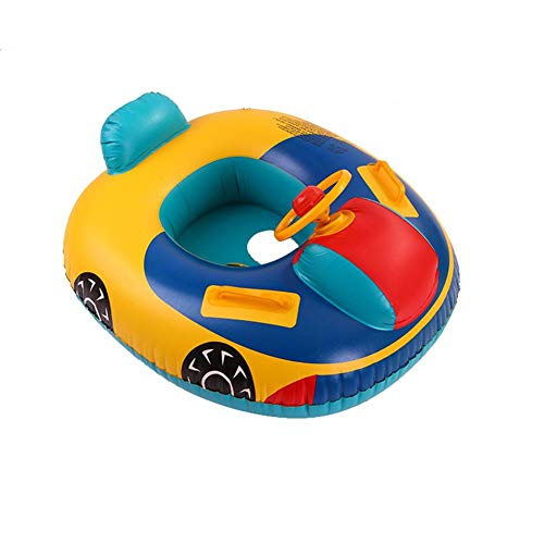 Schwimmring-Kinder Yacht Mit Lenkrad Luftmatratze Riesiger Aufblasbarer Einhorn Schwimmtier Schwimmen Schwimminsel Schwimmreifen Pool Spielzeug Floß Schwebebett Wasserspielzeug Party Kinder