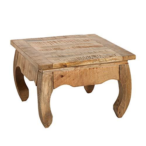 Riess Ambiente Massiver Couchtisch Opium Antique 60cm Natur Mangoholz Wohnzimmertisch Tisch Massivholz Holztisch