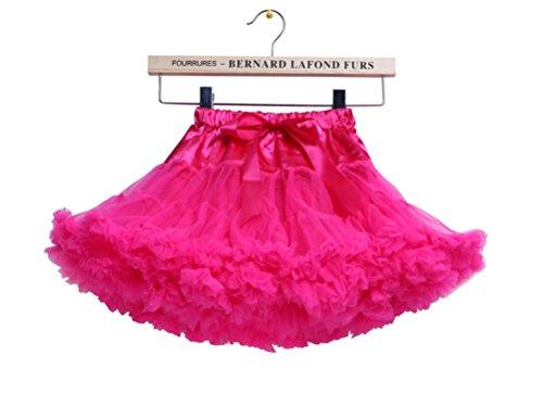 s Schminktisch Märchen Prinzessin Party Tutu Unterkleid Rock Fuchsie (Barbie-frau Kostüm)