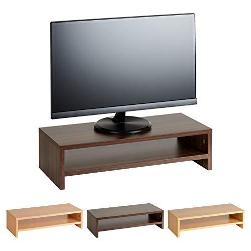 Hartleys rialzo per monitor effetto legno a 2 piani - vari colori