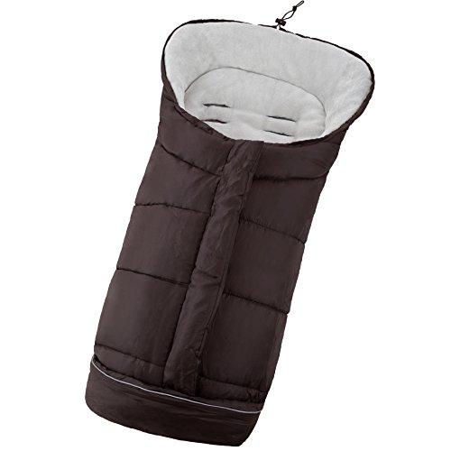 TecTake Saco de invierno dormir térmico para carrito silla de bebé universal abrigo polar - disponible en diferentes colores - (Marrón | No. 400996)