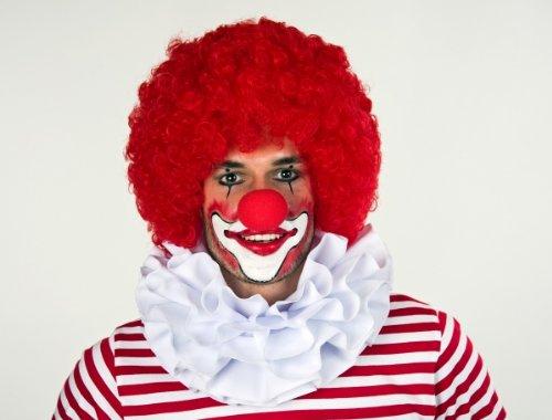 Festartikel Müller Kragen Clownkragen Clown dreilagig Weiss (Rüschen Party Clown Kostüm)