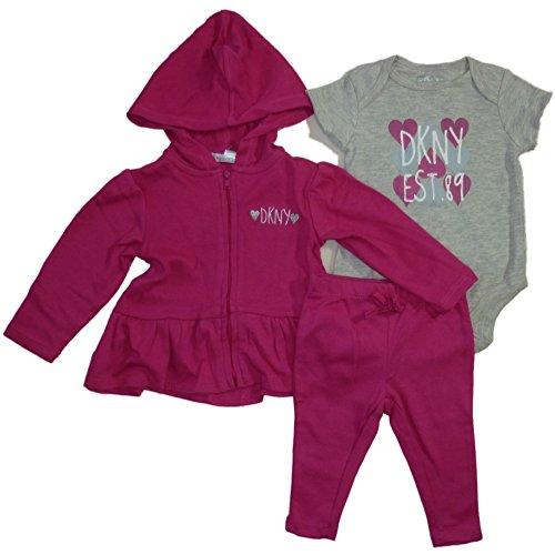 dkny-baby-madchen-outfit-jacke-body-hose-pink-62-68
