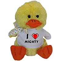 Plush Duck with I Love Mighty T-shirt (first name/surname/nickname)