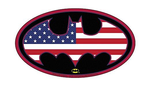 "BATMAN US LOGO, Officially Licensed Original Artwork, 2.8"" x 5"" - Sticker DECAL autocollant"