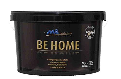 Preisvergleich Produktbild BE HOME Innenfarbe, 10L, weiß, stumpfmatt, Wandfarbe