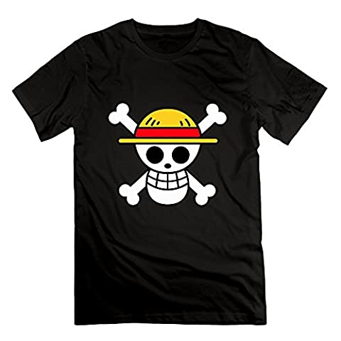 T-shirt manga One Piece, crâne, chapeau de paille, carte, Monkey