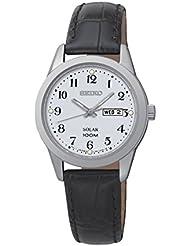 Seiko Damen-Armbanduhr Analog Quarz Leder SUT195P1