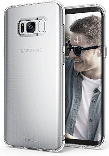 Ringke Air Kompatibel mit Galaxy S8 Hülle Extrem Leichte Schutzhülle Transparent Weich Silikon Case Flexibel Dünn TPU Cover Kratzfest Handyhülle für Galaxy S8 - Clear (49ers Armband)