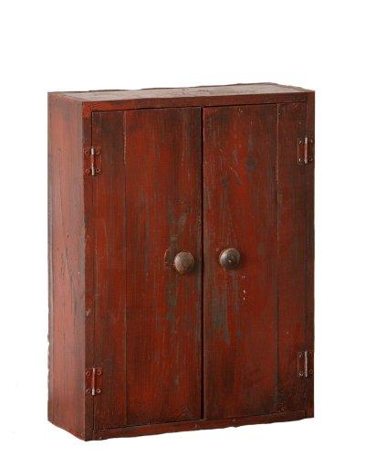 Your Heart's Delight Schrank mit 2 Türen und 1 Ablage, Burgunderrot, 35,6 x 48,3 x 13,7 cm (Akzent Dekor Mit)