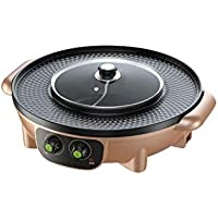 Ylytgmultifunction Barbecue Pot Double Pot Olla Eléctrica Hot Grill Eléctrico Thai Barbecue Grill Korean BBQ Hot Pot Electric [Clase Energética A]
