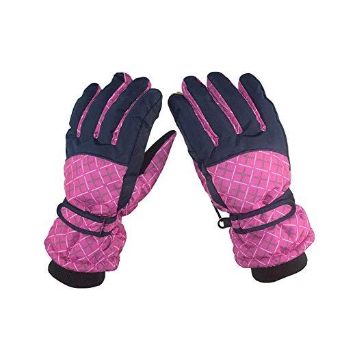 ZHJBD Schutzausrüstung/Reiten im Freien Skihandschuhe Winddichtes Fleece Warme Handschuhe Sportvollfingerhandschuhe Fahrradausrüstung (Color : PINK)