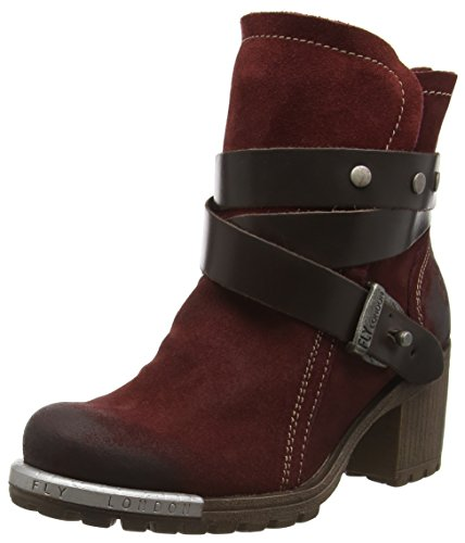Fly London Damen Botas Chukka Lok Violett (vinho / Dk.brown 028)