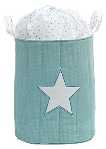 Alondra Mare 181 - Saco de juguetes de textil acolchado, color verde agua