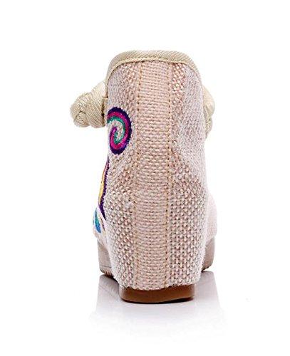 DESY pattini ricamati, biancheria, unico tendine, stile etnico, scarpe femminili, moda, comodo, casual meters white