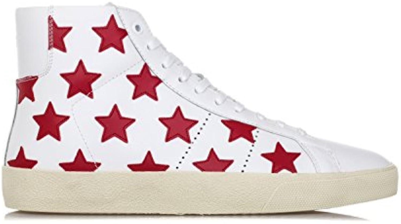 Saint Laurent Scarpe Uomo scarpe da ginnastica 'California' Court Classic SL 06M Bianco | Portare-resistendo  | Sig/Sig Ra Scarpa