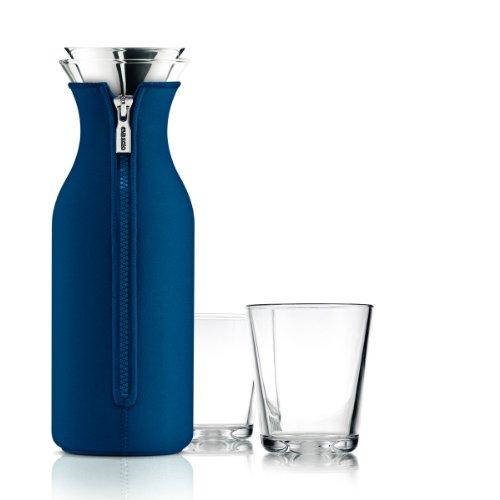 Kühlschrank-Karaffe mit 2 Gläsern Neopren, |porcelain blue (1,0 l)
