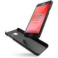 """Azorm Coque Samsung Galaxy A3 2016 (4,7"""") Color Edition Effet Métallisé, Etui de Protection Rigide Antidérapant, Housse assortie à la couleur Noire du Téléphone - Noir"""