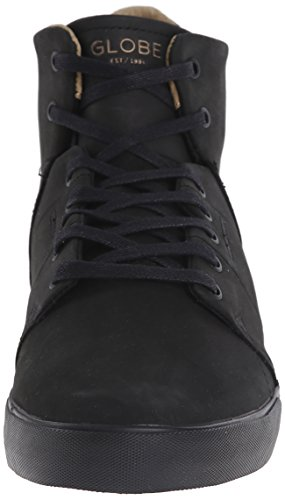 Globe Los Angered Cuir Chaussure de Basket Black-Black