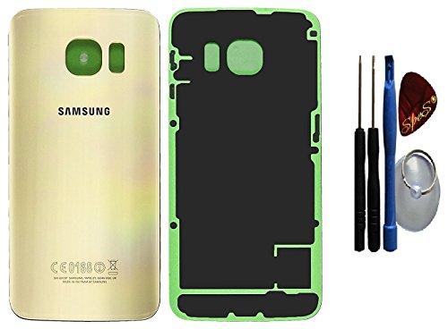 ORIGINAL Samsung Galaxy S6 Edge G925F GOLD Akkudeckel Akkufachdeckel, Batterieabdeckung, Rückseite, Back-Cover / Kleberfolie/ Dichtung ( GH82-09602C)