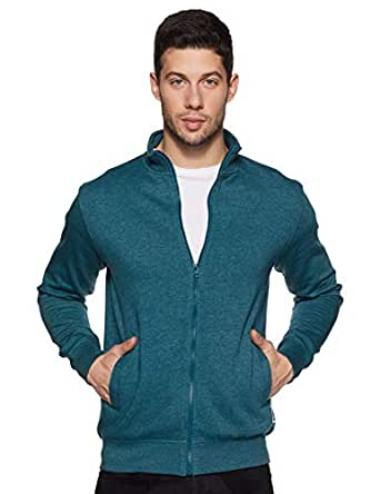 Amazon Brand - Symbol Men's Sweatshirt (AW18MNSSW03_Fog Teal Mel_S)